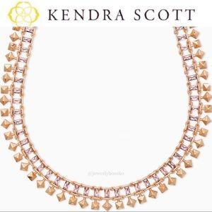 Kendra Scott Oscar Rose Gold Choker Necklace